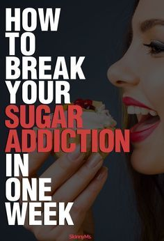 How to Break Your Sugar Addiction in just one week! #skinnyms #cleaneating