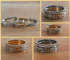Stacking Rings Stacking Ring Set of 3 Gold Silver Mixed