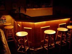 Under-lighting for the bar, use those lighting strips from Ikea?