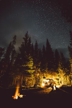 awesome night camping shot