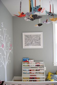 pretty butterflies on the ceiling - gray horse benjamin moore