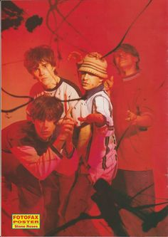 The lads behind a plastic cover John painted - featured in their first major cover in July 1989 for Melody Maker. Bedroom Wall Collage, Photo Wall Collage, Picture Wall, Ian Stone, Irish Rock, Stone Roses, Britpop, Music People, Indie Kids