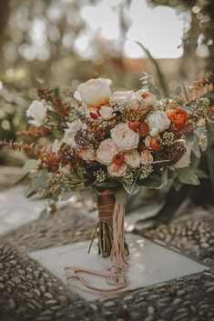 Wait Till You See This Free-Spirited Spanish Wedding! … Wait Till You See This Free-Spirited Spanish Wedding! Fall Wedding Bouquets, Fall Wedding Flowers, Bridal Flowers, Wedding Centerpieces, Floral Wedding, Wedding Decorations, Bridal Bouquets, Blue Wedding, Hand Bouquet Wedding
