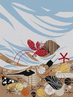 Charley Harper Needlepoint<BR>Crabitat (Out of Stock)