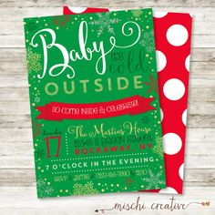 Baby It's Cold Outside Holiday Christmas Party by MischiCreative