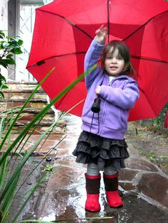 Catching the rain in Soft Star Phoenix Boots!