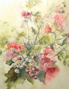 Ingrid Buchthal - Mazzo di malve rosa