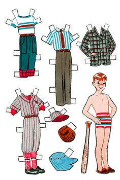 Growing Up Dolls Paper Dolls  One for girl and one for boy