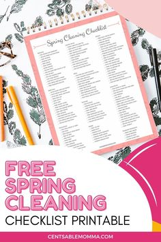 Deep clean your house on a realistic schedule this year with with this FREE Spring Cleaning Printable Checklist. Cleaning Checklist Printable, Spring Cleaning Checklist, Deep Cleaning, Declutter, Schedule, Printables, Learning, House, Free
