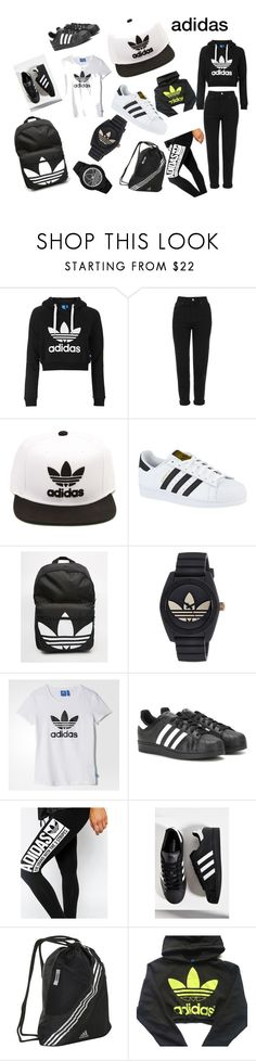 """""""adidas"""" by khadijaalmarzooqi ❤ liked on Polyvore featuring Topshop and adidas"""
