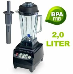 Profi Smoothie Maker Power Mixer Blender Icecrusher schwarz 2,0 l BPA-FREI mit Edelstahlmesser - bis zu 38.000 Umdrehungen / Minute ideal für Smoothies: Amazon.de: Küche & Haushalt