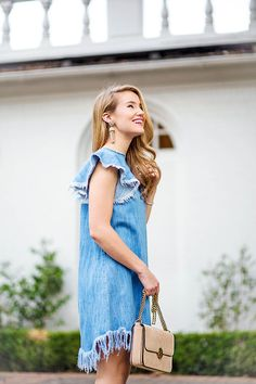 denim fringe dress under $30 | affordable dresses | dresses for fall | how to style a denim dress | how to wear a denim dress | denim style ideas | fall fashion | fall style | fashion for fall | style ideas for fall | cool weather fashion | fashion tips for fall || a lonestar state of southern #fallstyle #fallfashion #denimdress #fringedress