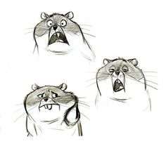 Rhino from Bolt. unsure of artist! Hampster Character concept art sketc… - World of Animals Character Design Animation, Character Drawing, Character Concept, Disney Concept Art, Disney Art, Sketch Inspiration, Character Design Inspiration, Cartoon Design, Cartoon Styles