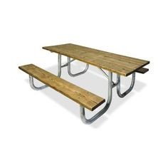 6 And 8 Heavy Duty Wood Picnic Table Portable Brighten Up An Outdoor Area With Our 6ft Heavy Duty Commercial Wood Picnic Ta Picnic Table Outdoor Wood Furniture Wooden Picnic Tables