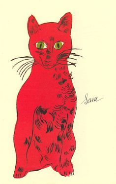 Some cute kitties drawn/painted by Andy Warhol