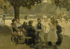 Isaac Israels (Dutch, 1865-1934)  Au Bois de Boulogne (la caresse du pinceau sur la toile est bien visible)