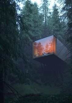 World Architecture Community News - Matthias Arndt envisions exclusive cubist forest hotel complex in the Bavarian Forest Architecture Design, Concept Architecture, Amazing Architecture, Minimal Architecture, Hotel Architecture, Building Architecture, Architecture Portfolio, Container Home Designs, Forest Hotel