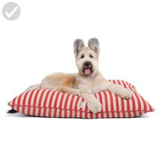 Harry Barker Vintage Stripe Bed - Medium - Red - For our pretty pets (*Amazon Partner-Link)