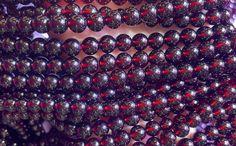 Red Gemstones, Natural Gemstones, Garnet Gemstone, Gemstone Beads, Tanzania, Jewelry Making Supplies, Dark Red, Round Beads, Crafts To Make