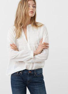 Blusa textura algodón