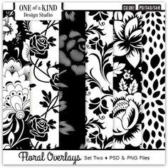 Floral Overlays - Set Two | CU/Commercial Use #digital #scrapbook design tools at CUDigitals #digiscrap