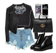 """""""Untitled #1409"""" by anarita11 ❤ liked on Polyvore featuring Linea Pelle, WithChic, Gucci, women's clothing, women's fashion, women, female, woman, misses and juniors"""