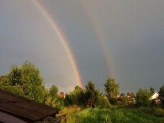 Двойная радуга. Никольск, Вологодская область.