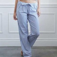 HPBlue & White Striped Pajama Pants 100% cotton. NWT. Forever 21 Intimates & Sleepwear Pajamas