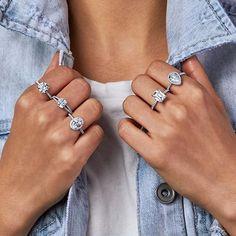 Diamond Cuts, Silver Rings, Bracelets, Jewelry, Style, Fashion, Bangles, Jewellery Making, Moda