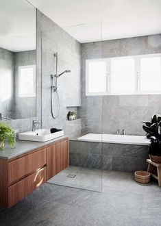 remodeling ideas bathroomisunquestionably important for your home. Whether you choose the bathroom ideas remodel or bathroom ideas remodel, you will create the best dyi bathroom remodel for your own life. Dyi Bathroom Remodel, Bathroom Renos, Bathroom Flooring, Bathroom Renovations, Vanity Bathroom, Wood Vanity, Grey Marble Bathroom, Decorating Bathrooms, Concrete Bathroom