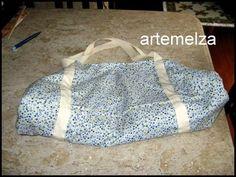 artemelza - bolsa toalha otima ideia pra ir a praia, club ou academia. TUTORIAL