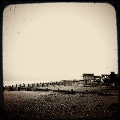 Whitstable beach in winter x