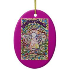 Spring Heart Cancer Cannot Do Angel Ornament
