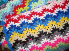 Ravelry: Lesianne's Yarn - Vintage Crocheted Blanket #2