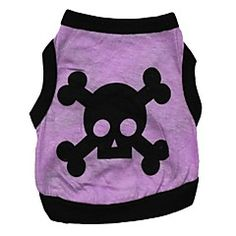 Cat / Dog Shirt / T-Shirt Purple Dog Clothes Summer Skulls Cosplay / Wedding