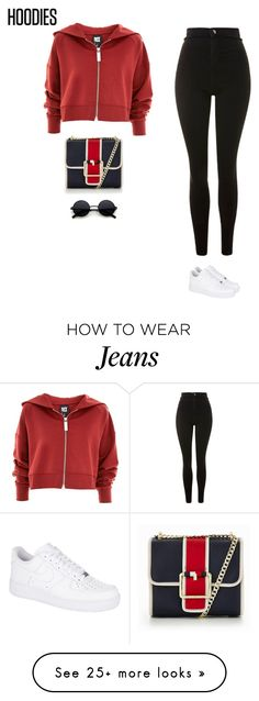 """""""verdict"""" by tiffvnyyy on Polyvore featuring Topshop, NIKE, Tommy Hilfiger and Hoodies"""