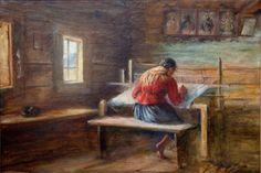 """Sylweriusz Saski, """"Przy krosnach"""", 1931"""