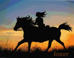 Lady romantic art print from my painting romance love from lewfoster - Art Painting Silhouette Painting, Horse Silhouette, Horse Canvas Painting, Canvas Art, Diy Canvas, Horse Drawings, Art Drawings, Art Sketches, Cavalo Wallpaper
