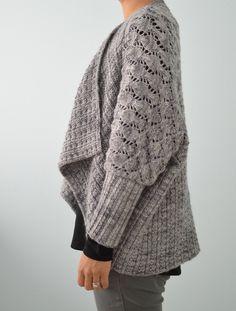 Two-Way Wrap Cardigan Knitting Pattern