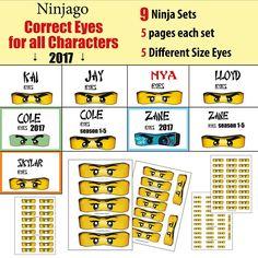 free printable lego ninjago eyes for bags | party