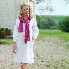Dress White Linen Daniela by LinenbyInga on Etsy