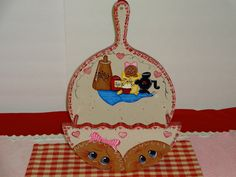 Woooden Gingerbread Paper Plate Holder..Gingerbread Decor, Collector, Lover, Kitchen Decor, Home Decor,,,,. $26.50, via Etsy.