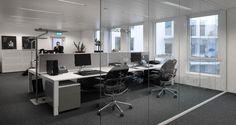 Open space nos escritórios da Atradius em Anvers, Bélgica