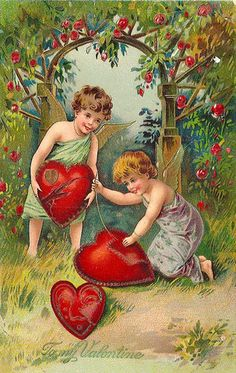 Ah, if it were only that easy to mend a broken heart. This is a favorite early Valentine postcard from my collection. Valentine Cupid, Valentine Images, My Funny Valentine, Valentines Art, Vintage Valentine Cards, Vintage Greeting Cards, Vintage Holiday, Valentine Day Cards, Happy Valentines Day