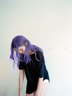 #purple #hair #pastels