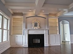 Traditional Home fireplace with bookcases Design Ideas, Pictures, Remodel and…