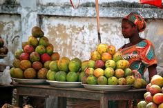 Fruit stand in Accra, Ghana