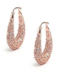 Cathy Waterman Pave Diamond Hoop Earrings Hoop Earrings