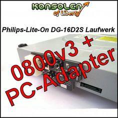 [Power Dongle] Xbox 360 Philips Lite-On DG-16D2S 0800 V.3 DVD-Laufwerk Maximus 360