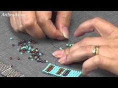 Square Stitch Mini Tutorial Video with Cynthia Kimura ~ Seed Bead Tutorials